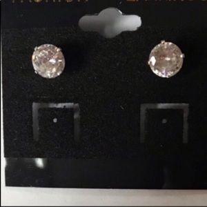 Genuine CZ earrings set in sterling silver